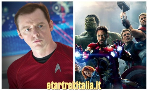 Simon Pegg, Star Trek 3 in stile Avengers